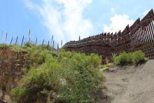 The U.S.-Mexico border wall at Nogales, AZ