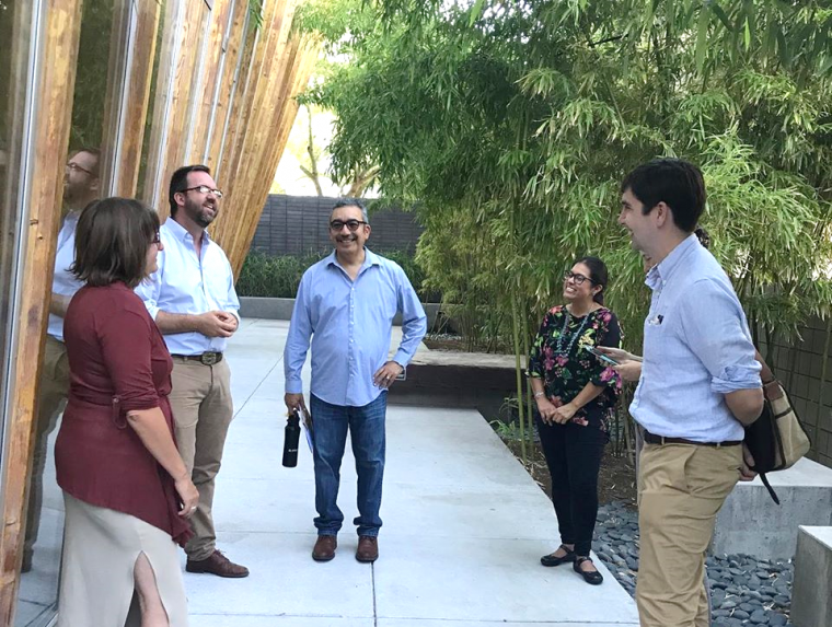 Bill Warner of CHCI visited Tucson in September to plan for the May 2020 CHCI meeting